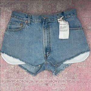 Levi's high rise cutoff denim shorts